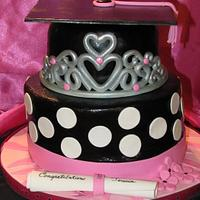 Princess Graduation Cake