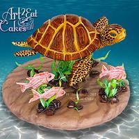 Honu the Sea Turtle & Fishy Friends