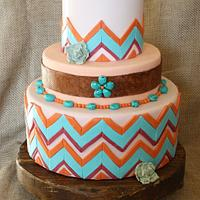 New Mexico Wedding Cake