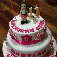 American girl doll cake and cookies