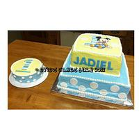 Mickey Mouse Cake W/Smash Cake