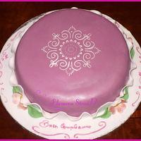 Stencil cake by Filomena