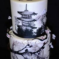 Japanese themed cake