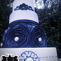 5 tier Classic Vintage Wedding Cake by Malberry Cakes