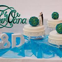 Hydrangea Weddingcake
