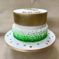 Golden Anniversary cake with an Irish twist