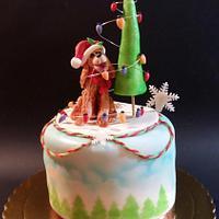 Christmas Dog Cake