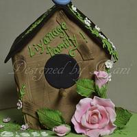 bird house house warming cake