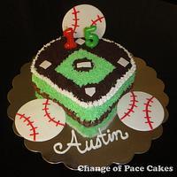 Wondrous Austins Baseball Birthday Cake Cake By Cakesdecor Funny Birthday Cards Online Fluifree Goldxyz
