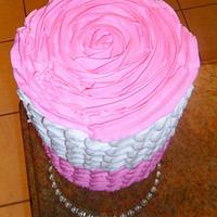 A ROSE PETAL CAKE