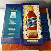 Johnnie Walker Blue Label Birthday Cake
