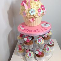 Pretty giant cupcake tower