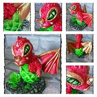 Baby Welsh Dragon Cake Topper #wildwinds