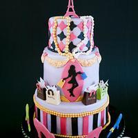 Paris Fashion Theme Cake
