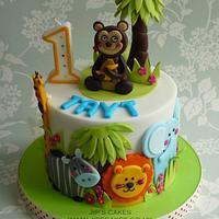 Wondrous Jungle Theme Birthday Cake Cake By Jips Cakes Cakesdecor Funny Birthday Cards Online Inifofree Goldxyz
