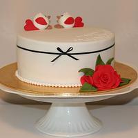 Tweethearts - wedding anniversary cake.