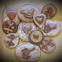 Wood effect rustic cookies