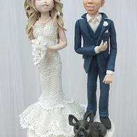 Four Tier Sprinkles Wedding Cake