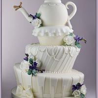 Topsy Turvy Teapot Cake