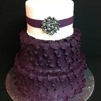 Plum petal cake