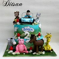 cake with animals