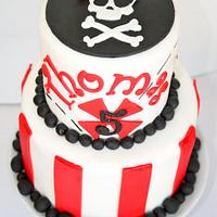 Fantastic Pirate Birthday Cake Cake By Rachel Skvaril Cakesdecor Personalised Birthday Cards Rectzonderlifede