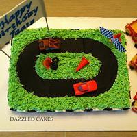Racing Car Birthday Cake