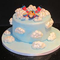 free falling (sky diving cake ) by d and k creative cakes
