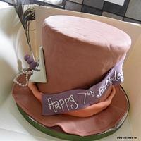 Alice in Wonderland Mad Hatter Hat Cake