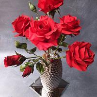 Red Roses - Cake International Bronze Award - November 2016