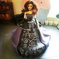 My goth doll cake