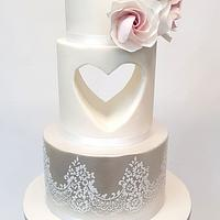 Wedding cake with Heart