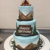 Outdoorsy Birthday Cake