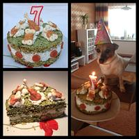 Birthday cake for dogs :-)