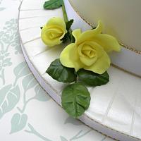 50th wedding anniversary cake by sarah
