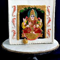 Tanjore painting on cake