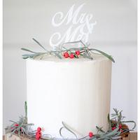Winterstyled buttercream weddingcake