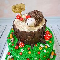 Hedgehog's tree stump