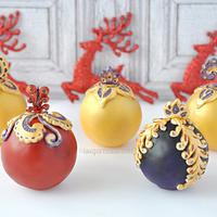 Red Velvet Christmas Baubles