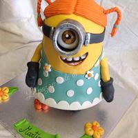 Minion girl cake 3D by Titty