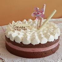 Raspberry chocolate mousse cake ~ mini version