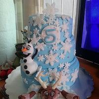 Frozen cake (sven and olaf)