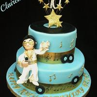 Elvis Is In The Building!  by Clairella Cakes