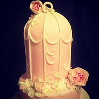 Birdcage wedding cake  by Claire
