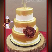 Whispy AZ Gold Wedding Cake