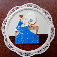 Lady in Royal icing
