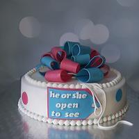 Gender Reveal cake.