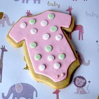 Onesie cookies for Baby Shower