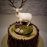 Deer and cake to a hunter
