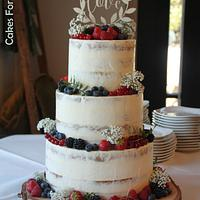 Semi naked weddingcake